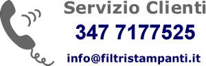Informazioni per Filtri Stampanti, Fotocopiatrici e Fax